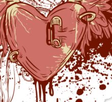 Heart Patched Sticker