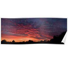 Hallow Sunset panorama Poster