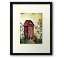 """""""Hers"""" Kountry Outhouse Framed Print"""