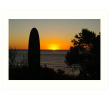 sunset at Port Noarlunga Art Print