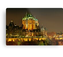 Night view of Le Chateau Frontenac, Quebec City Metal Print