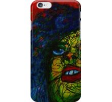 red, blue and yellow woman iPhone Case/Skin