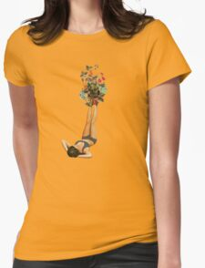 her feet turned into a beautiful bouquet of flowers - plain T-Shirt