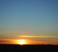 Sunset  near Loxton S.A by Kazzii
