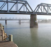 Mist over the River Murray. by Kazzii