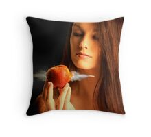 Apple and Bullett Throw Pillow