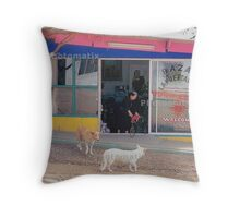 Mexico Dogs HDR  Throw Pillow
