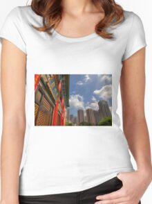 Wong Tai Sin Temple Women's Fitted Scoop T-Shirt