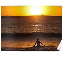 Surfing Sundowner Poster