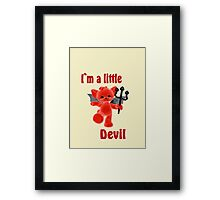 I`m a little devil Framed Print