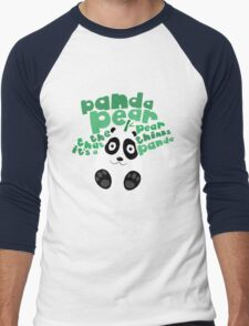 Pandapear Men's Baseball ¾ T-Shirt