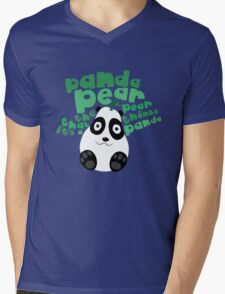 Pandapear Mens V-Neck T-Shirt