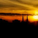 The Steeple's Last Sunset by Andy Mueller