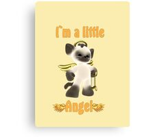 I`m a little angel Canvas Print