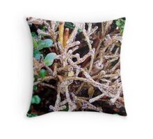 Crystal branches Throw Pillow