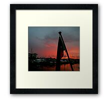 Papua New Guinea Sunset - Sailing through Paradise Framed Print
