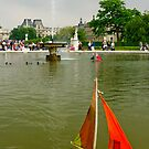 Louvre museum - fountain with small boat by retouch