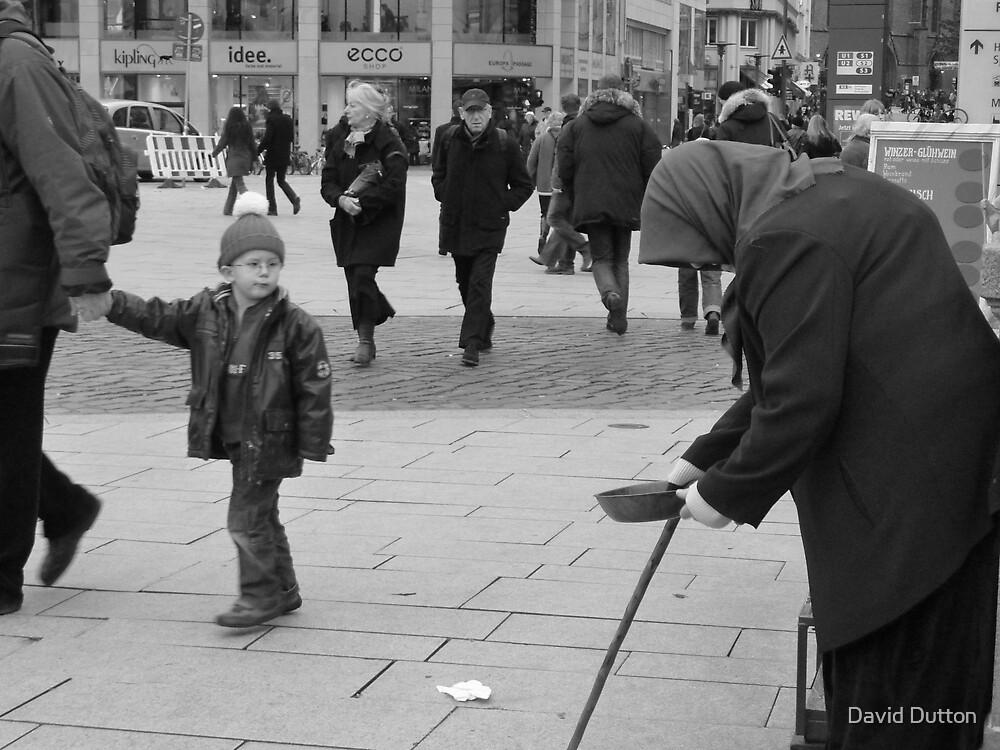 Beggar Woman and Child, Hamburg, Germany. by David Dutton