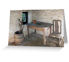 Thatched cottage kitchen Greeting Card