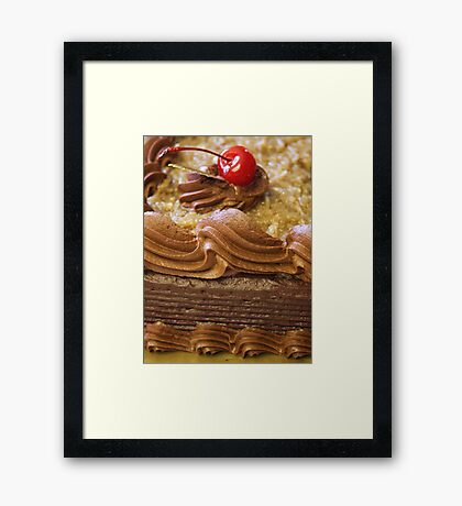 MMMM...German Chocolate Cake... Framed Print