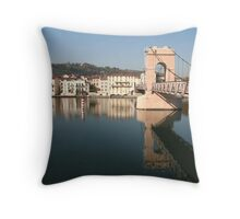 Bridge over the Rhone at Vienne Throw Pillow