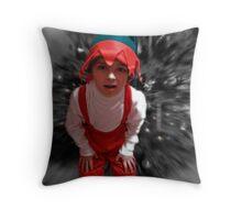 a christmas elf Throw Pillow