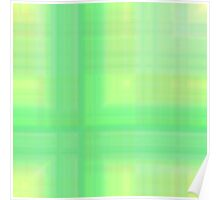 Green-Mint Plaid Poster