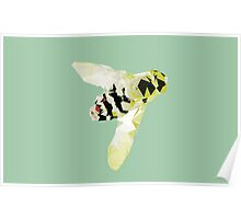 Meshed Up Bumble Bee Poster