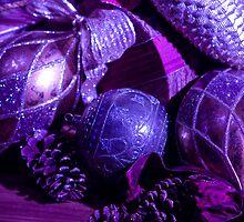 Purple Holiday Baubles by ElyseFradkin