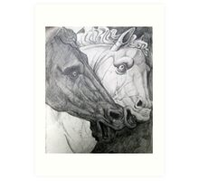 Horse sculpture Art Print