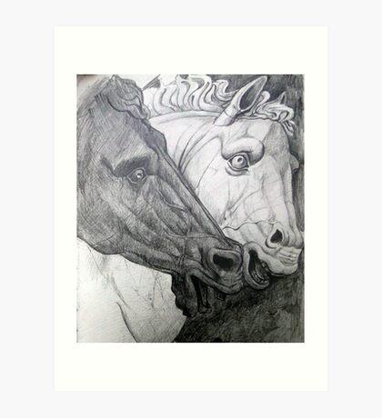 Horse sculpture Art Print