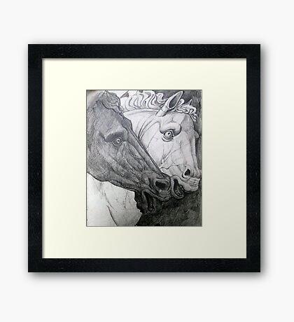 Horse sculpture Framed Print