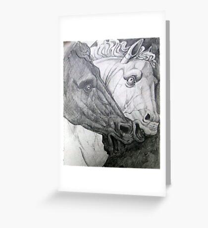 Horse sculpture Greeting Card