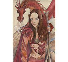 Kestia Red Dragon Guardian Photographic Print
