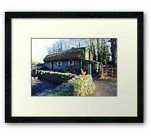 Irish thatched cottage Framed Print