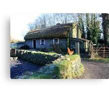 Irish thatched cottage Canvas Print