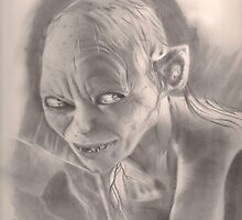 LOTR Gollum by Raynepau
