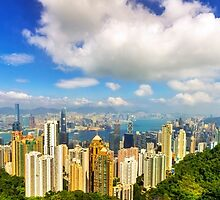 Hong Kong Peak Panorama by Paul Thompson Photography