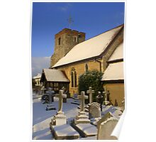 st Andrews in the snow Poster