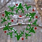 Merry Christmas Titmouse by Kathy Weaver