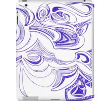 Happy curved Doodle iPad Case/Skin