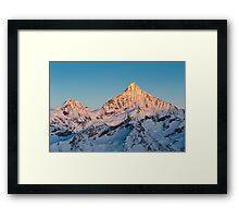 Weisshorn at sunrise Framed Print