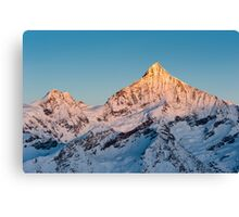 Weisshorn at sunrise Canvas Print