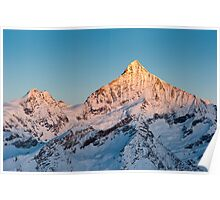 Weisshorn at sunrise Poster