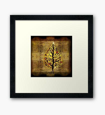 man and christmas tree Framed Print