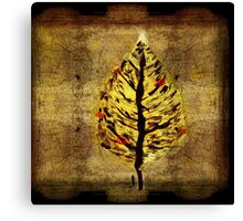 man and christmas tree Canvas Print