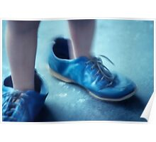blue shoes Poster