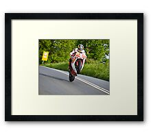On the Gas! (crop) Framed Print