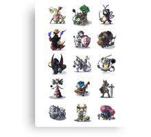 Final Fantasy Pokemon Collection Set 1 Canvas Print