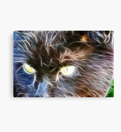 Fractalius Cat Canvas Print